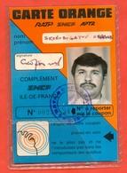 "France 1989. ""Carte Orange"". Travel Ticket For Transport. Ticket Nominal. - Season Ticket"