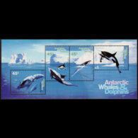 AUST.ANTARCTIC TERR. 1995 - Scott# L97a S/S Whales MNH - Unused Stamps