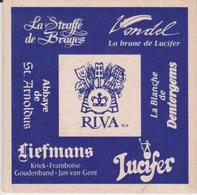 Sous-bock  RIVA - Lucifer, Liefmans, Straffe De Bruges, Blanche De Dentergems, Abbaye De St Arnldus, Vondel - Sous-bocks