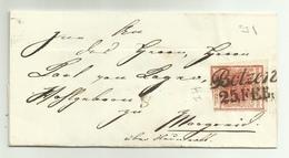 FRANCOBOLLO DA 3 KREUZER  BOTZEN  1857   BUONI MARGINI CON SIGILLO CERALACCA  SU FRONTESPIZIO - 1850-1918 Keizerrijk