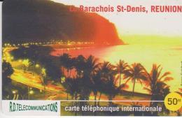 RARE Telecarte Carte Téléphone INTERNATIONALE  ILE DE LA REUNION  ST DENIS LE BARACHOIS  R.D. TELECOMMUNICATIONS  50 F - Réunion