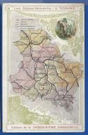 Carte Géographique    Les Départements: L'YONNE - Cartes Géographiques