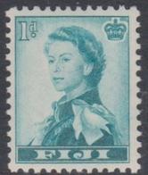 Fiji SG 281 1954 Queen Elizabeth II Definitives, 1d Green, Mint Hinged - Fiji (...-1970)