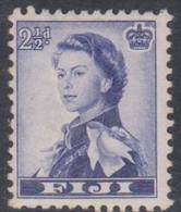 Fiji SG 284 1954 Queen Elizabeth II Definitives, 2.5d Blue Violet, Mint Hinged - Fiji (...-1970)