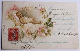 CPA Faire Part De Naissance Georges Le Gelard 1911 Pierre Chapellière Chattemou Javron - Enfants