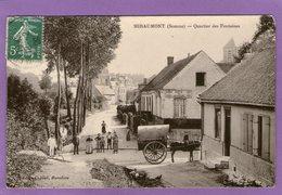 MIRAUMONT - Quartier Des Fontaines - (Café Des Voyageurs) -1909 - - Andere Gemeenten