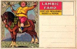 1 Carte Postale   BIER Bière Lambic Et Faro Bruxelles Les Meilleures Bières Du Monde  Lithografie Paard Litho - Cafés