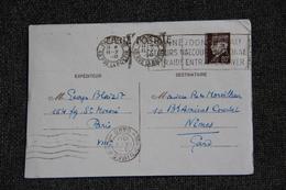 Entier Postal Sur Carte Postale De PARIS Vers NIMES (1941) - Postal Stamped Stationery