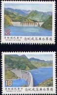 1987 Feitsui Reservoir Stamps Irrigation Dam Hydraulic Power Taiwan Scenery - History