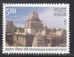 India MNH 2017, Draksharamam Bhimeswara, Hinduism, Temple Archtecture, - Indien