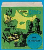 DISQUE 33 TOURS PUBLICITAIRE COMETE POUDRE SPECIALE POUR MACHINE A LAVER / REVE DE PRINTEMPS J. TRAUSS - Formats Spéciaux