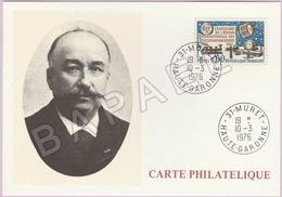 Carte Philatélique - Réalisa 1er Appareil Téléphone  (Clément Ader) (Muret Le 10-3-76) (Recto-Verso) - Philatélie & Monnaies