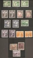 BRITISH GUIANA 1938 - 1952 SET TO $1 INCLUDING PERFORATION VARIETIES SG 308/317 FINE USED Cat £20+ - British Guiana (...-1966)