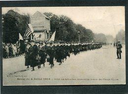 CPA - Revue Du 4 Juillet 1918 - Défilé Des Infirmières Américaines Avenue Des Champs Elysées, Très Animé - Guerre 1914-18