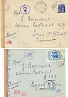 2 Lettres Censurées 1944/ Italie- France - 1921-1960: Periodo Moderno