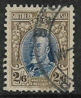 Southern Rhodesia, GVR,  1933, Field Marshal, 2'6, Perf 11.5, Used, Torn - Southern Rhodesia (...-1964)