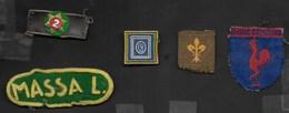 MOSTRINE DIVISA SCOUT REPARTO MASSALOMBARDA ANNI '60 - Scoutisme