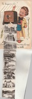 """Carte Postale Humoristique - 10 Vues Dépliantes : """" Ne Bougeonsplus! Sous L'appareil Vous Trouverez Besançon Les Bains."""" - Besancon"""