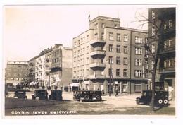 Polonia Postcard Poland Gdynia  Auto Car Animata  1936 Golfo Di Danzica - Polen