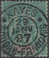 Soudan Français 1894-1900 - Kayes / Soudan Français Sur N° 6 (YT) N° 6 (AM). Oblitération De 1897. - Oblitérés