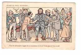 Guerre 1914 1918 Quand Le Poilu Reviendra Illustration Illustrateur Louis Morin - Guerre 1914-18