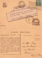"""CP- Coq Et Le 75-  Devise-"""" Jusqu'au Bout """"- - WW I"""