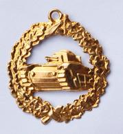 """WW1 Joli Pendentif Souvenir De Poilu 14-18 En Tôle De Laiton Emboutie """"Char D'assaut"""" Tank WWI - 1914-18"""