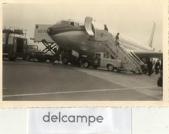 """Photo Authentique -  Avion AIR FRANCE Sur Le Tarmac -  Boeing Air France  """" Chateau De Fontainebleau - Camion Air France - Aviation"""