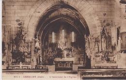 AUBE - 222-2 - CHESLEY - Interieure De L'Eglise  ( - Timbre à Date De 1938 ) - France