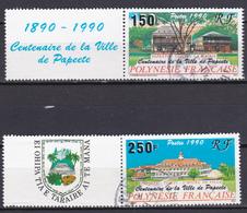 Polynésie Centenaire De La Ville De Papeete  N°358A-359A Oblitéré - Polynésie Française