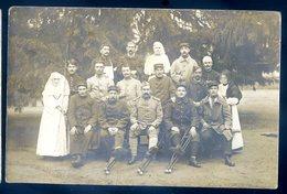 Cpa Carte Photo Militaires  Hôpital Militaire      ACH12 - Guerre 1914-18