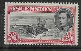 Ascencion, GVIR, 1944, 2'6, Perf 13, MH * - Ascension