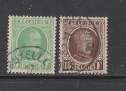 COB 209 / 210 Oblitéré - 1922-1927 Houyoux