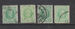 COB 209 Oblitérés Plusieurs Nuances - 1922-1927 Houyoux