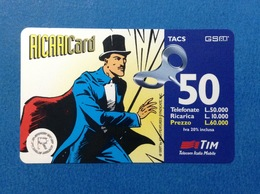 1997 ITALIA SCHEDA TELEFONICA RICARICARD TIM USATA USED PHONE CARD - MANDRAKE 50.000 LIRE SCAD. DIC 99 - Italia