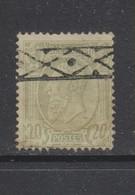 COB 47 Oblitération Roulette - 1884-1891 Léopold II