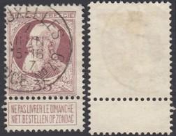 "Belgique COB77 - Oblitération Agence "" Bruxelles N°49 "" (DD) DC2385 - 1905 Grosse Barbe"
