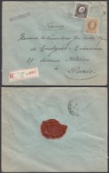 """Belgique - Lettre Recommandé COB 203+214  - Agence """" Bruxelles N°36 """" (DD) DC2387 - Marcophilie"""