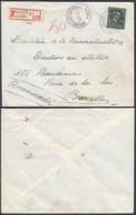"""Belgique - Lettre Recommandé COB 724T- Agence """"Bruxelles N°62 """" (DD) DC2401 - Marcophilie"""