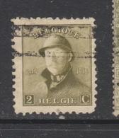 COB 166 Oblitération Roulette - 1919-1920 Roi Casqué