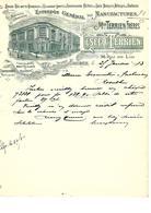 Facture Entrepôt Général Des Manufactures Mon Terrien Frères Esecq-Terrien à Amiens En 1913 - France