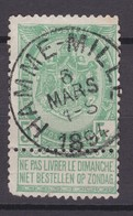 N° 56  Défauts : HAMME MILLE - 1893-1907 Armoiries