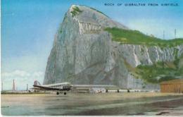 GIBRALTAR - Rock Of Gibraltar From Airfield -Bel Affranchissement Avec Flamme -  Scans Recto Verso - - Gibraltar