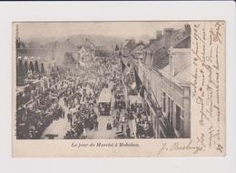 Hoboken - Zeer Zeldzame Kaart 1902  Veel Animatie Tram ,beesten Enz... Op Marktdag - Antwerpen