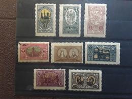 LITUANIE LIETUVA Srodkowa LITWA Occupation Polonaise 1921 Serie Complète Yvert No 28 /  35 Neuve * MH Ob  TB - Lituania
