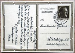 DR 1 Ganzsache 6 + 19 Pfg. Hitler Vorderseitig Bild Adolf Hitler Mit Kinder Jugendorganisation Gelaufen Regensburg - Deutschland