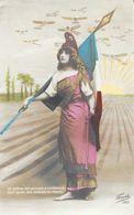 Le Monde Entier Plein D'Espérance, Suit Le Vol Des Oiseaux De France: Marianne Drapeaux, Avions - Carte Fauvette N° 1560 - Patriottisch