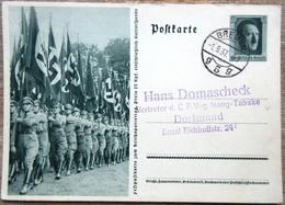 DR Ganzsache 6 Pfg. Hitler Bild Fahnenabteilung Gelaufen Stempel Bremen - Deutschland