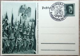 DR Ganzsache 6 Pfg. Hitler Bild Standartenabteilung SST Nürnberg - Deutschland
