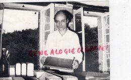 23- AHUN- MARC OLLIVIER -RELIEUR D' ART -LA PASSION DES LIVRES-RARE PHOTO ORIGINALE ROBERT GUINOT - Profesiones